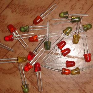 Светодиоды отечественные,с позолотой внутри