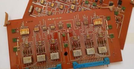 Советские платы с радиодеталями