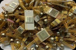 Советские микросхемы с золотом